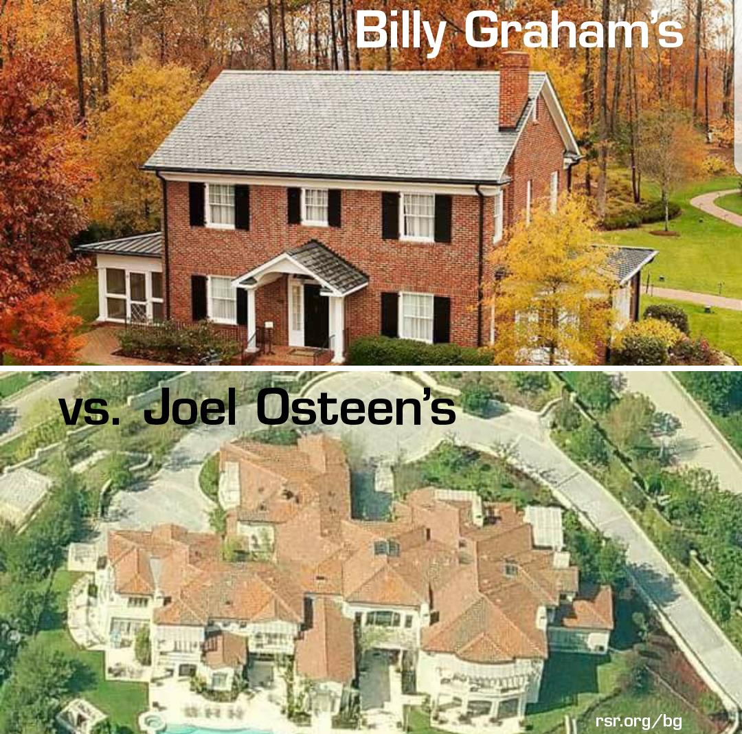 Billy Graham's vs. Joel Osteen's homes