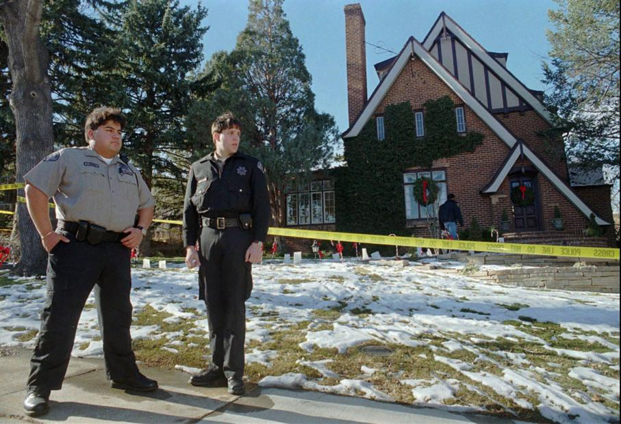 Snow on the grounds of the Ramsey home the day the body was found