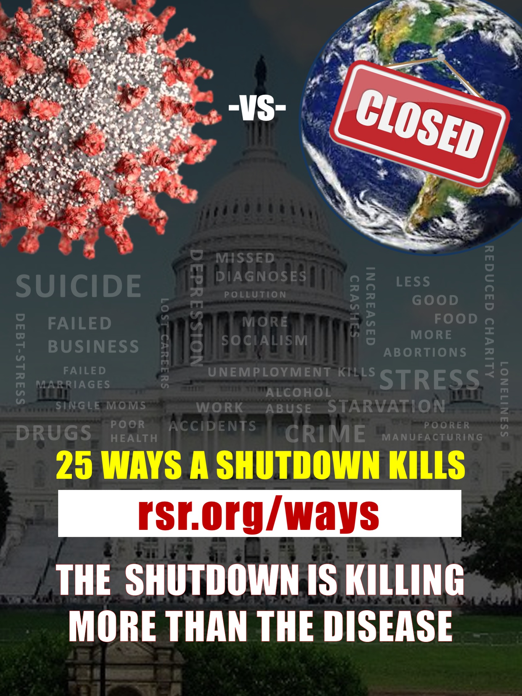 25 Ways the Shutdown Kills People graphic