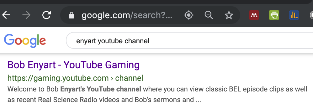 Google completely misrepresents BEL in search results