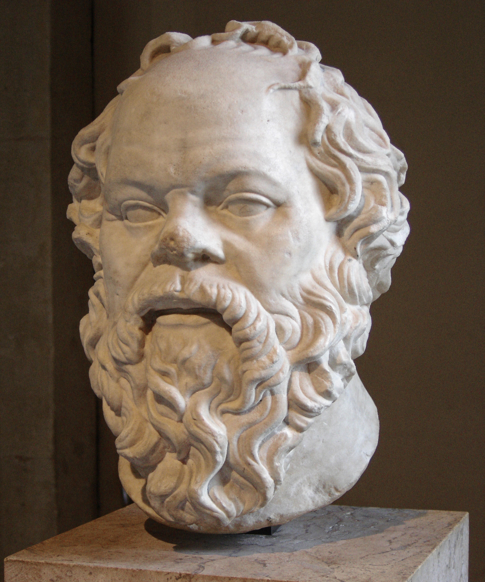 Socrates bust in the Louvre