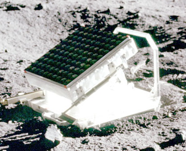 The retro-reflector base plate left on the moon by NASA's Apollo 15 astronauts
