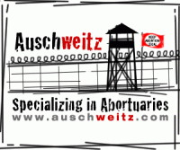 Auschweitz.com graphic for the Weitz construction company building a Planned Parenthood abortuary