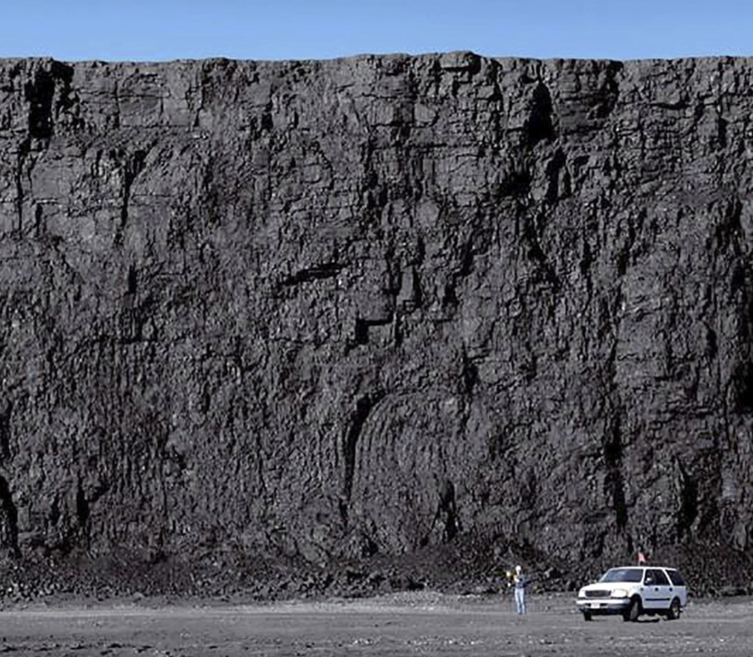 A Wyoming coal deposit...