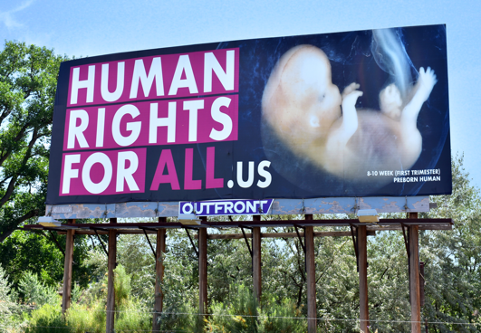 Colorado RTL replaced a pro-abortion msg on this very board with a life-affirming message