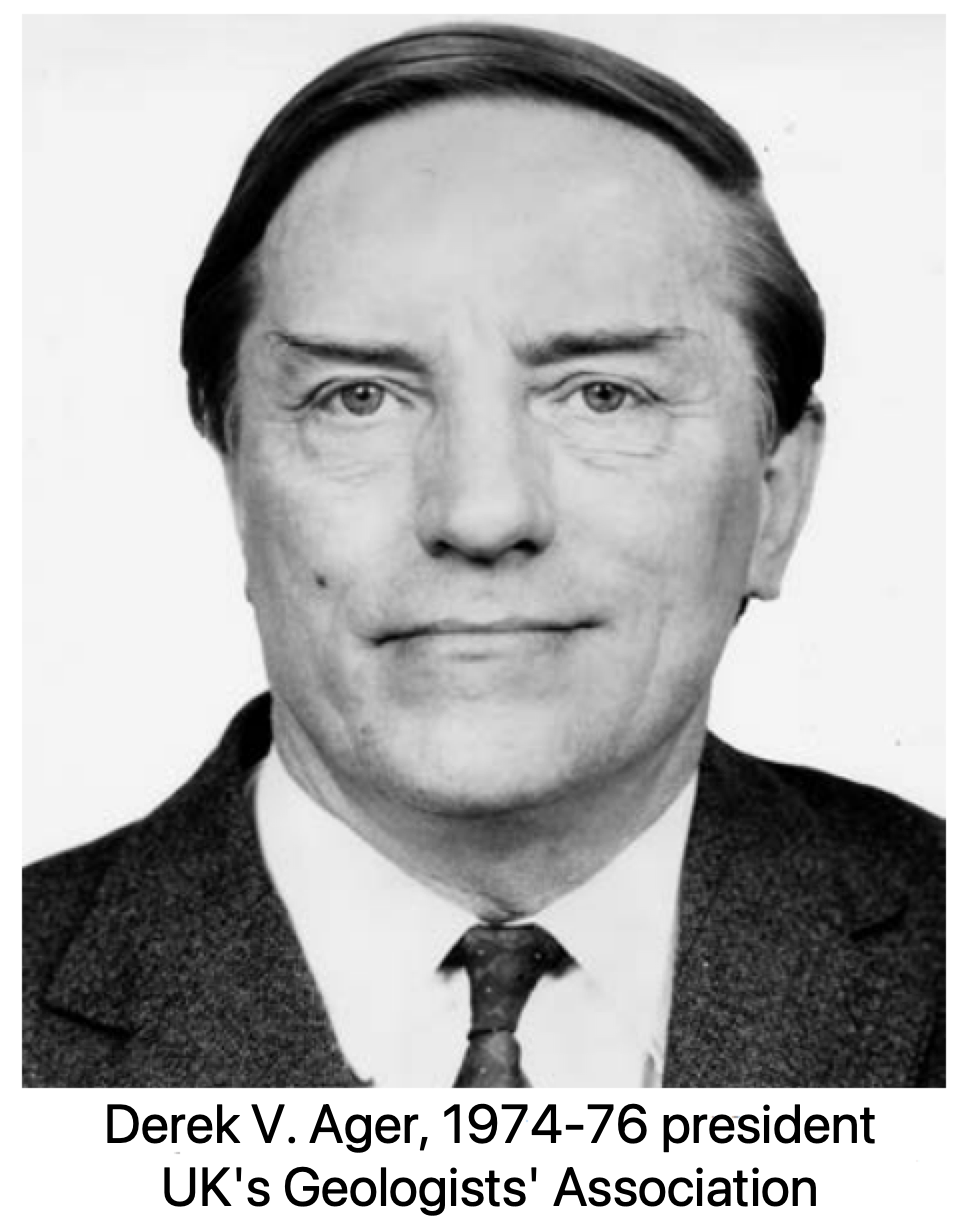 Derek Victor Ager, 1974-76 president, UK's Geologists' Association
