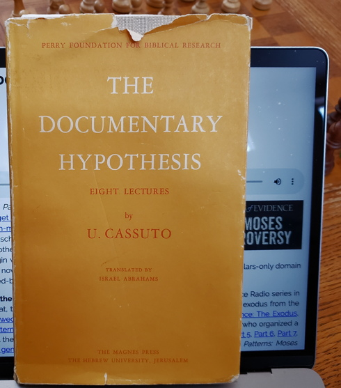 Cover of The Documentary Hypothesis book by Umberto Cassuto
