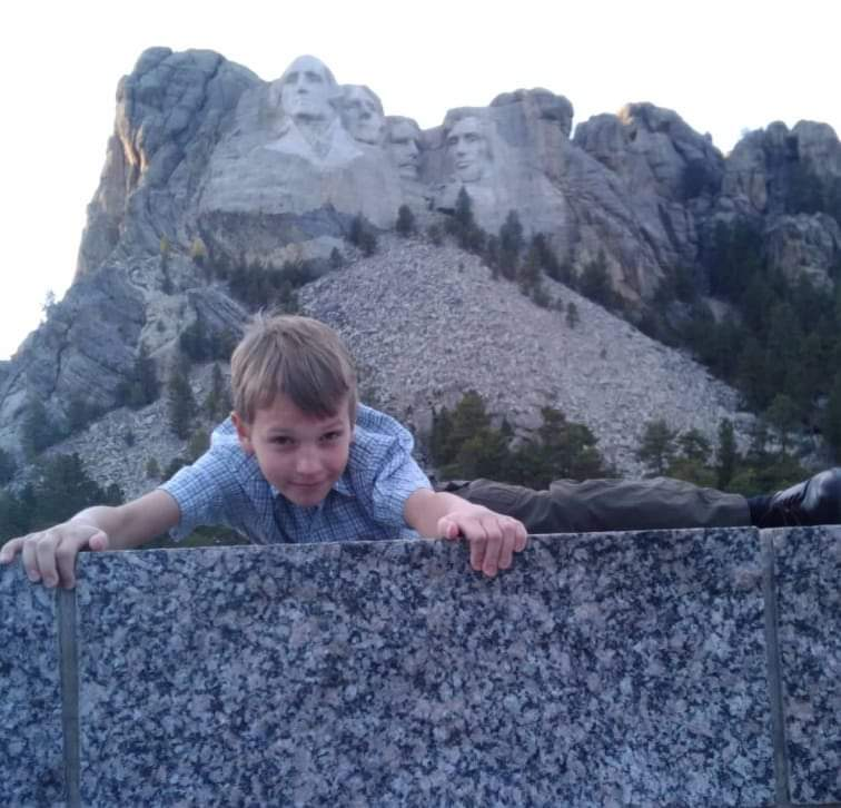 Dominic Start at Mt. Rushmore