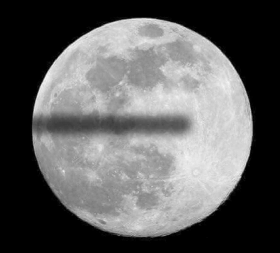 On the Lighter Side: Funny image of a flat earth lunar eclipse