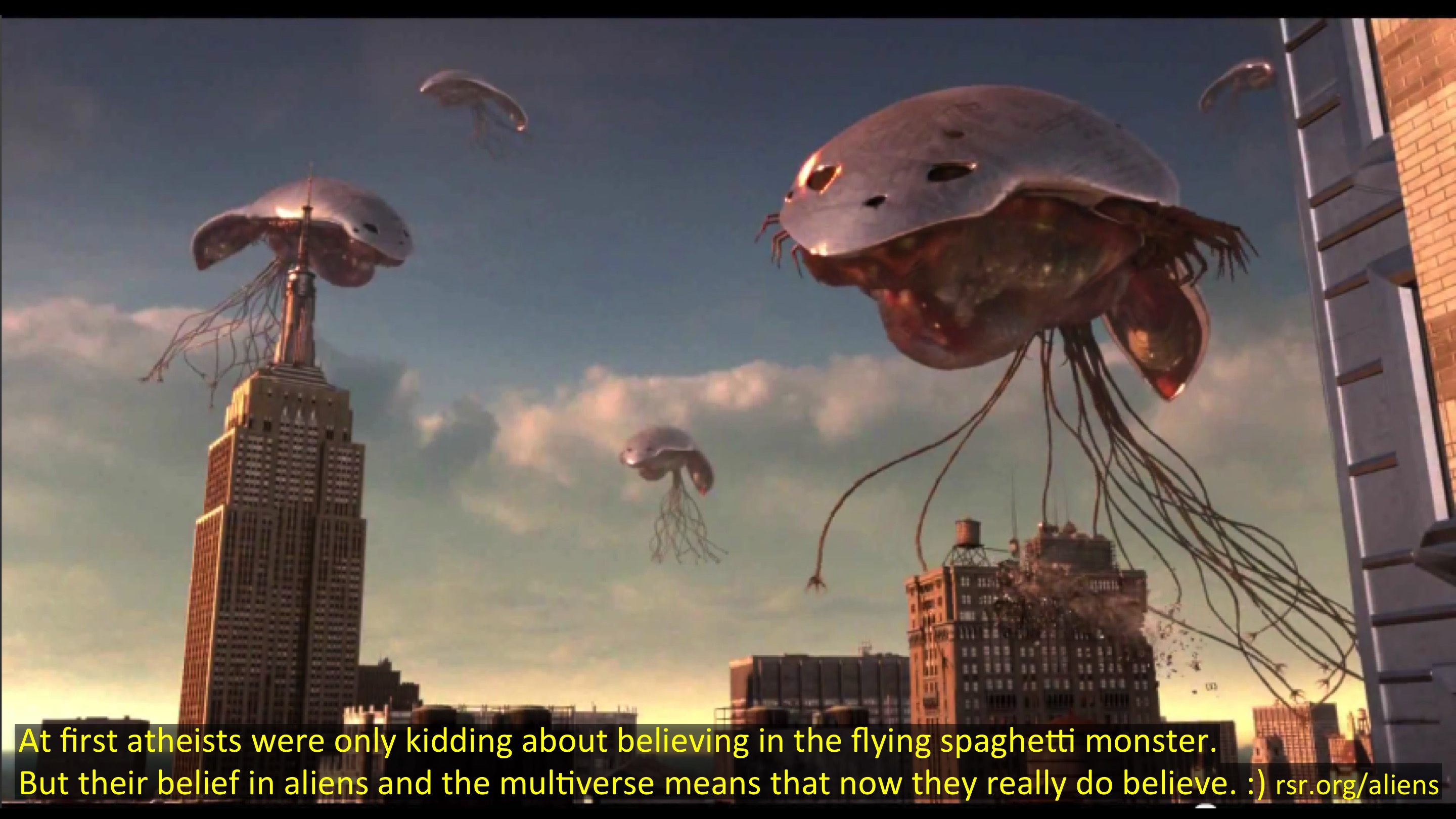 With their multiverse, now atheists really DO believe in the flying spaghetti monster!