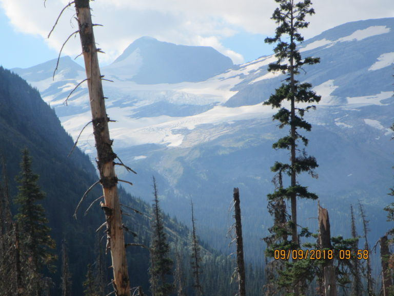 Growing Jackson glacier at Glacier Nat'l Park in Montana...