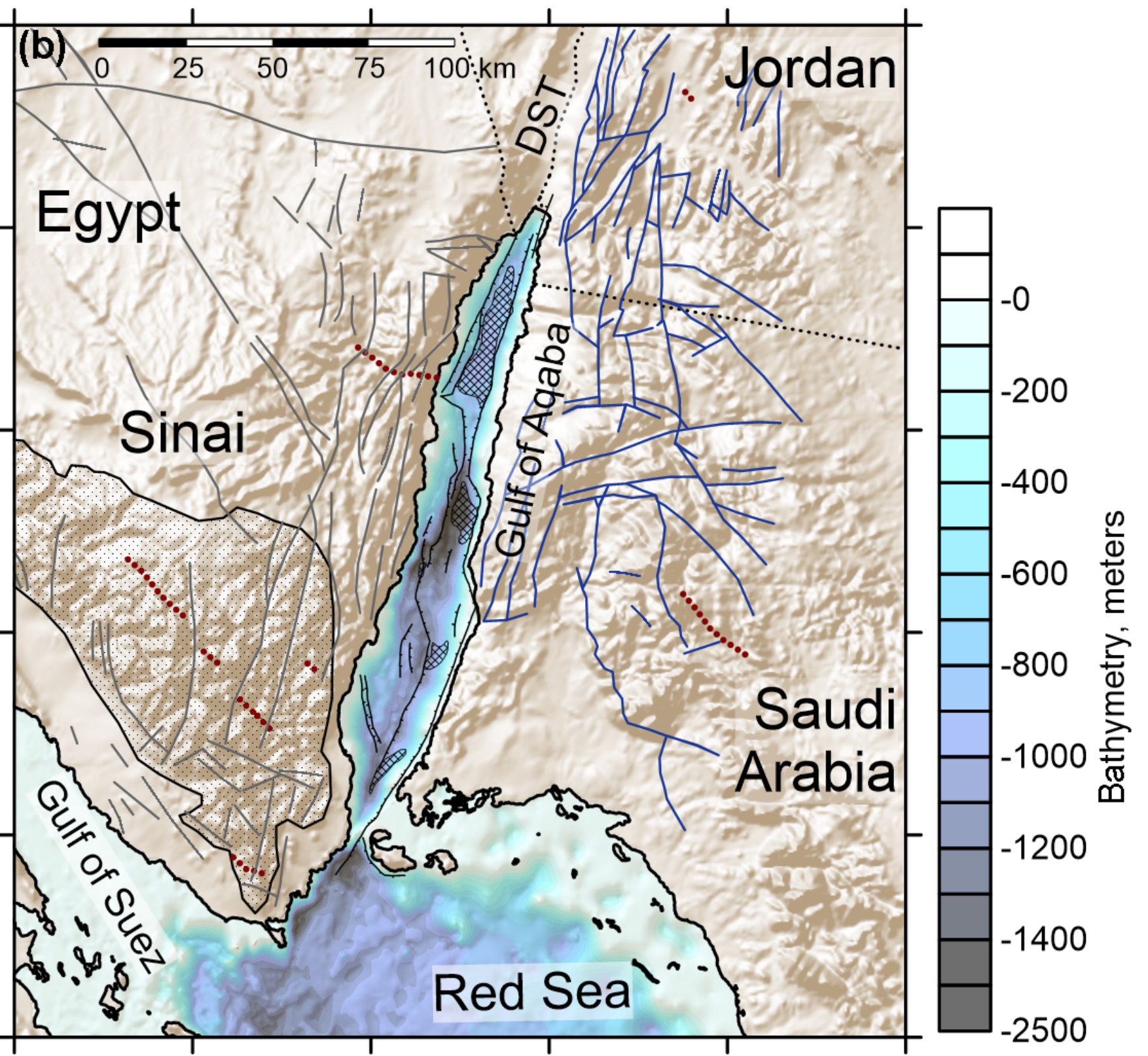 Gulf of Aqaba bathymetry