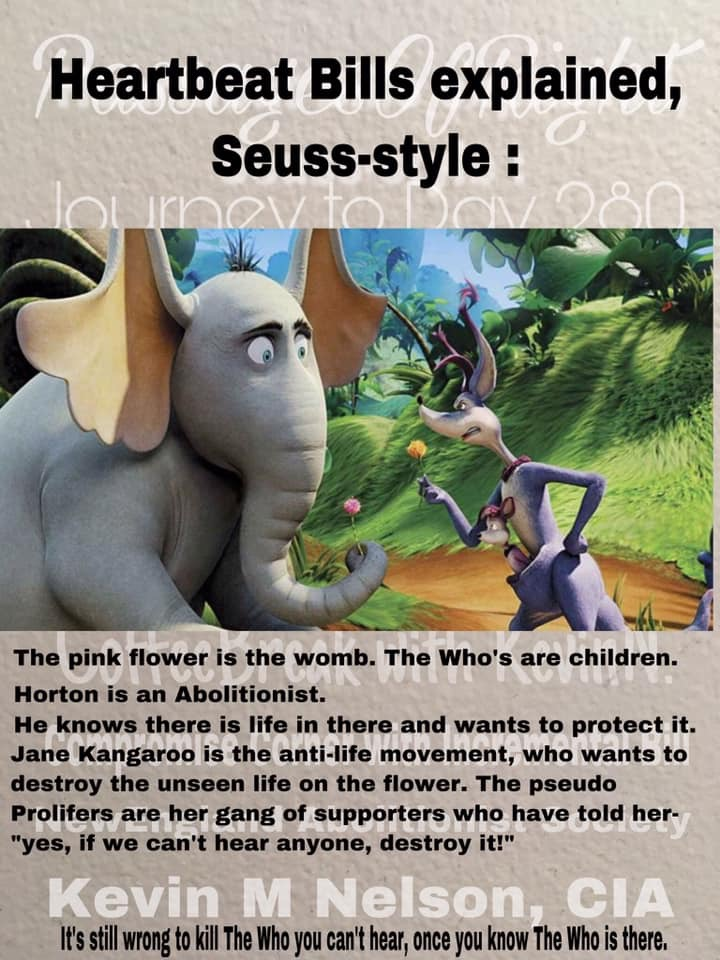 Heartbeat abortion bills explained Horton Hears a Who Dr. Seuss style