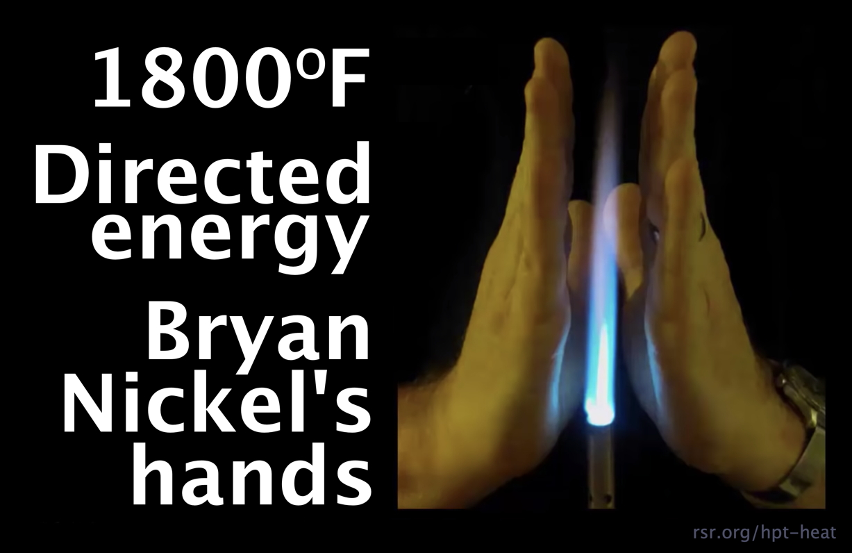 Photo of Bryan Nickel's hands around a butane torch to show directed energy