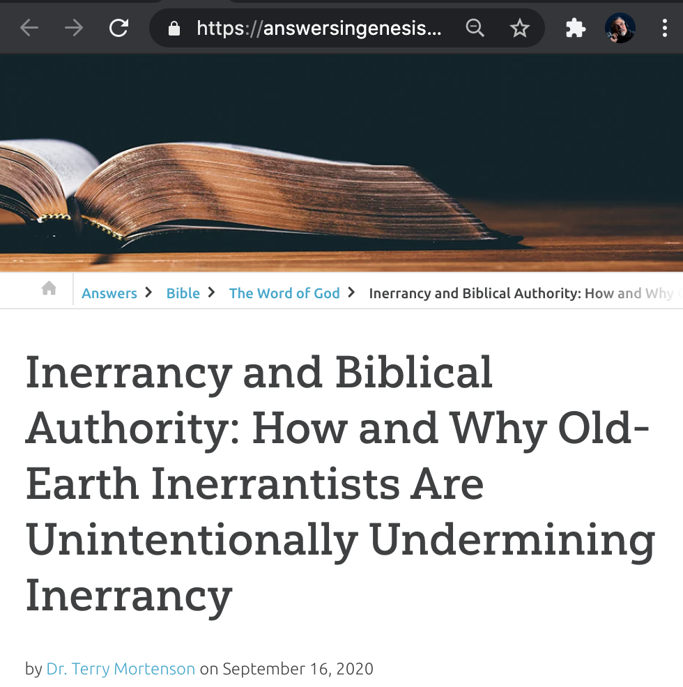 Inerrancy vs. Old Earth Creationism
