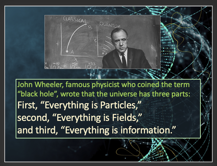 Physicist John Wheeler on particles, fields, and now, information