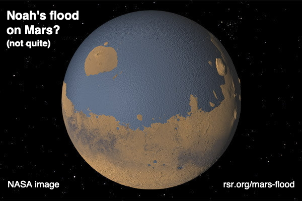 NASA image. Noah's flood on Mars, closer than they think