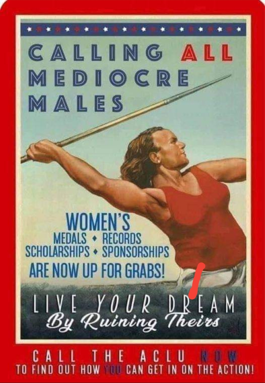 Men in Women's Sports Poster: calling all mediocre men