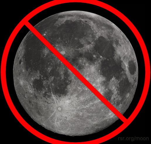 """The Moon is observational error. It doesn't exist."" Ha ha ha ha ha!"