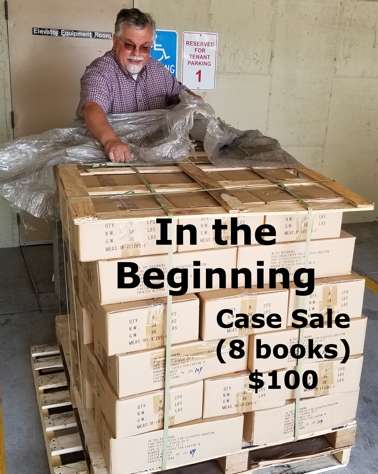 Case of Walt Brown's In the Beginning, 8 books for $100