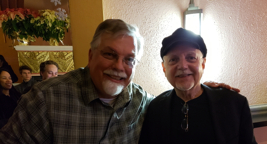 Phil Keaggy at Boulder concert, photo with attendee Bob Enyart