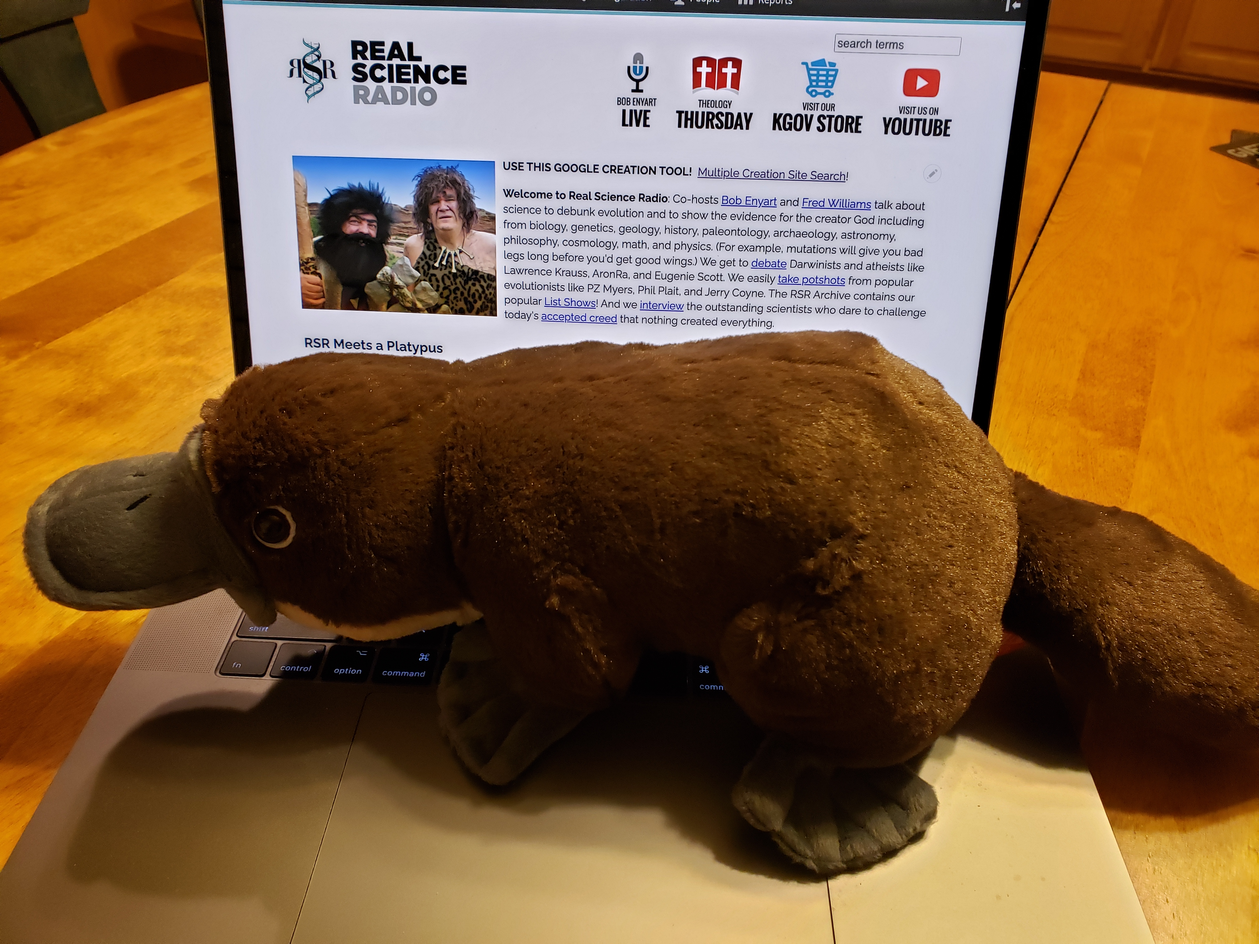 Now the platypus is in the RSR break room!  :)