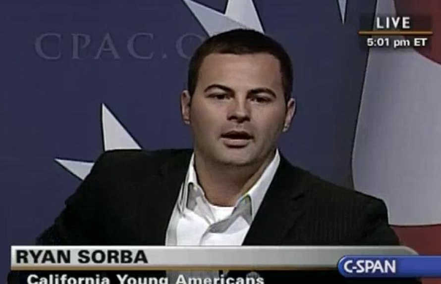 BEL friend Ryan Sorba at CPAC. (Q: What does CPAC stand for? A: Nothing, absolutely nothing.)