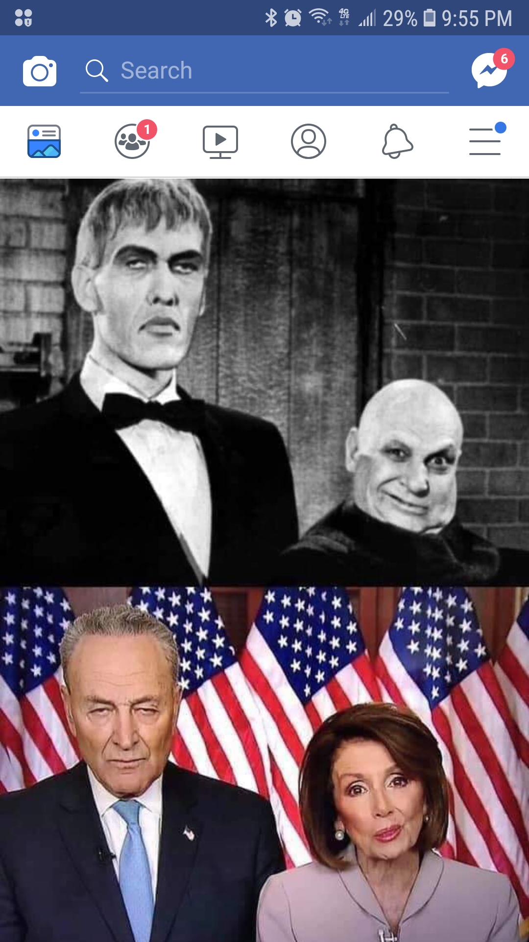 Schumer & Pelosi get equal time with Lurch & Fester