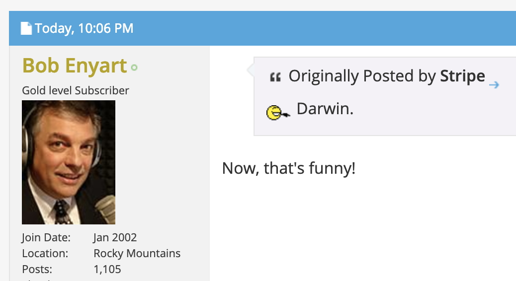TheologyOnline members mentions another scientist doubting Darwin: namely, Darwin!