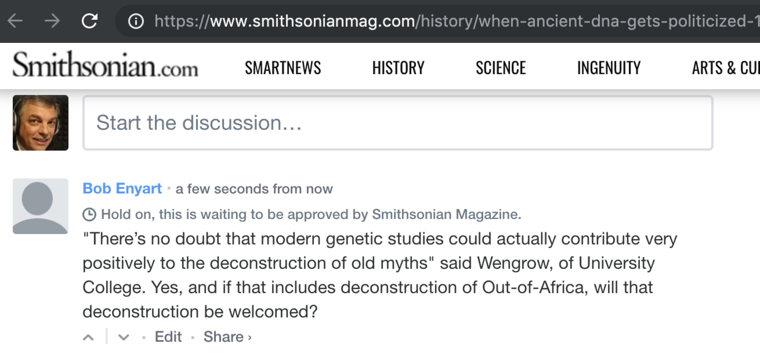 7/12/19 Smithsonian: When Ancient DNA Gets Politicized
