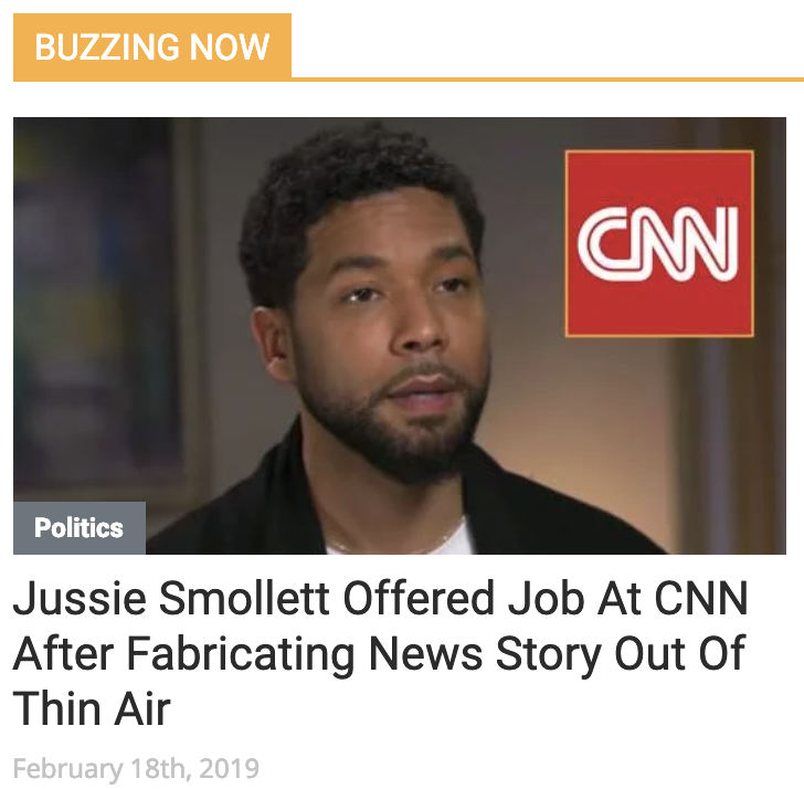Babylon Bee satire: CNN hires Jussie Smollett after he makes up story out of thin air!