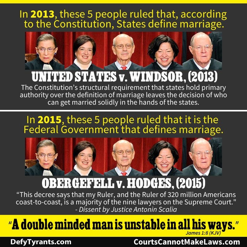 Meme shows the hypocrisy of the Supreme Court