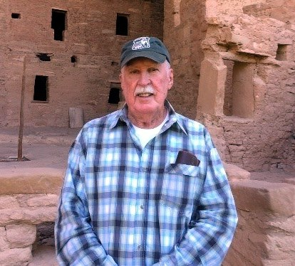 Tom Healey at Mesa Verde Nat'l Park, Colorado. Photo by his wife Madelyn