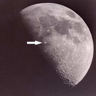 Lunar outgassing photo 1953