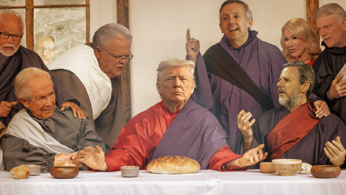 Trump's Last Supper with Christian leaders asking which will betray him