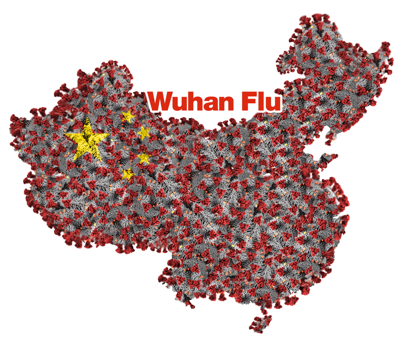 Wuhan flu map