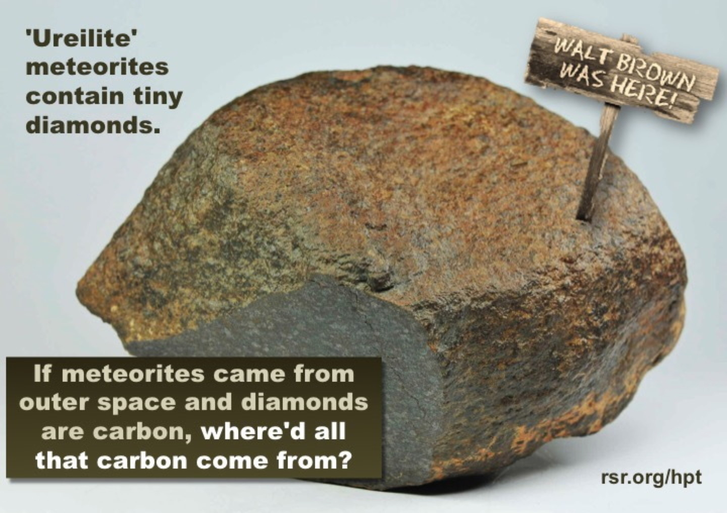 Another WWB Discovery: Diamonds in meteorites? Of course! From Earth and launched by the fountains of the great deep