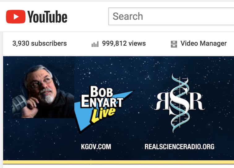 BEL YouTube channel approaching one million views. Screenshot.